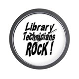 Library Techs Rock ! Wall Clock
