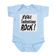 HVAC Techs Rock ! Infant Bodysuit