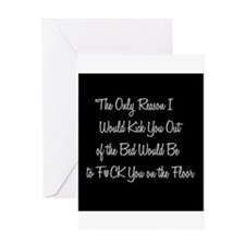 Naughty: F*ck on the floor Greeting Cards