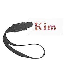 Kim Pink Flowers Luggage Tag