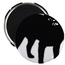 "Black Pug 2.25"" Magnet (100 pack)"