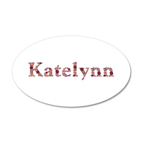 Katelynn Pink Flowers 35x21 Oval Wall Decal