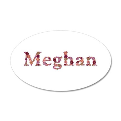 Meghan Pink Flowers 20x12 Oval Wall Decal