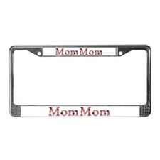 Mommom Pink Flowers License Plate Frame