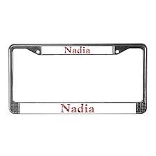 Nadia Pink Flowers License Plate Frame