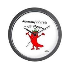 Mommy's Little Chili Pepper Wall Clock