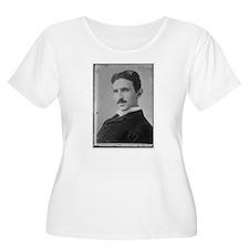 Nikola Tesla Image Plus Size T-Shirt