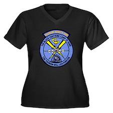 VP 31 Black Women's Plus Size V-Neck Dark T-Shirt