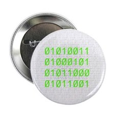 "Binary SEXY 2.25"" Button (10 pack)"