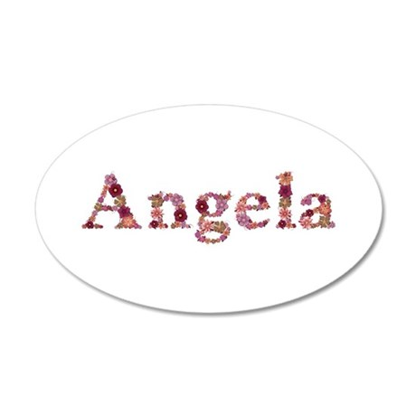 Angela Pink Flowers 35x21 Oval Wall Decal