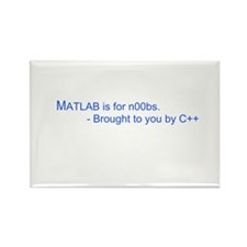 MATLAB is for n00bs Rectangle Magnet (10 pack)
