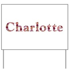 Charlotte Pink Flowers Yard Sign