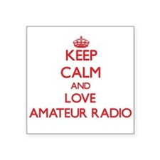 Keep calm and love Amateur Radio Sticker