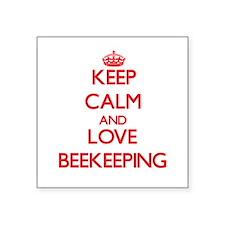 Keep calm and love Beekeeping Sticker