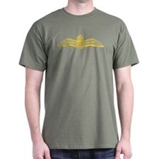 RAF Pilot Wings Yellow T-Shirt