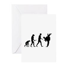Karate Evolution Greeting Cards