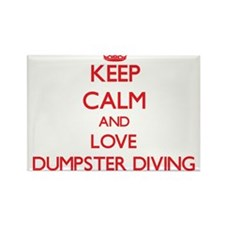 Keep calm and love Dumpster Diving Magnets