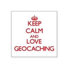 Keep calm and love Geocaching Sticker