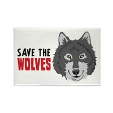 Save The Wolves Magnets