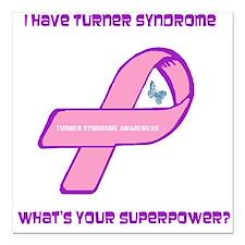 "Turner Syndrom Awareness Square Car Magnet 3"" x 3"""