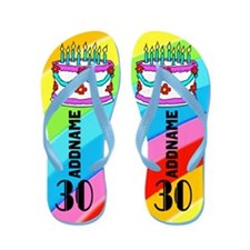 Delightful 30Th Flip Flops