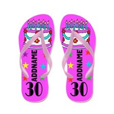 Dazzling 30Th Flip Flops