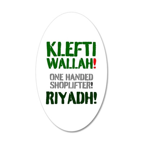 KLEFTI WALLAH - ONE HANDED S 20X12 Oval Wall Decal