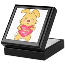 Some bunny loves you, cute humor Keepsake Box