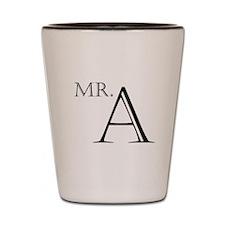 Mr. A Shot Glass