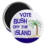 Vote Bush Off the Island Magnet (100 pack)