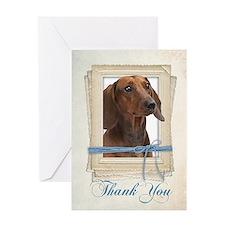 Dachshund Thank You Cards