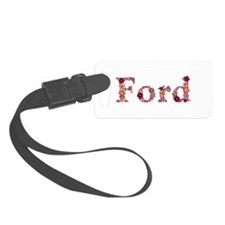Ford Pink Flowers Luggage Tag