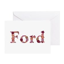Ford Pink Flowers Greeting Card