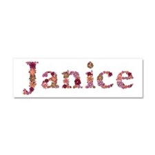 Janice Pink Flowers 10x3 Car Magnet