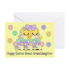 Great Granddaughter Cute Easter Greeting Card