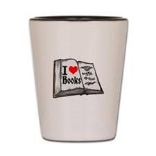 I heart books Shot Glass