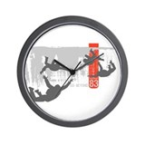 Sky diving Wall Clock