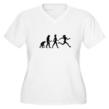 Female Runner Evolution Plus Size T-Shirt