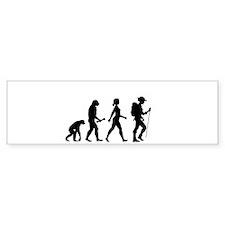 Female Hiker Evolution Bumper Sticker