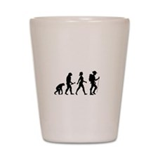 Female Hiker Evolution Shot Glass