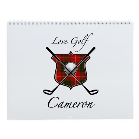 Clan Cameron - Love Golf Wall Calendar