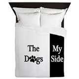 Dog side my side Queen Duvet Covers
