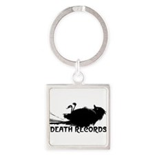 Death Records Oval Keychains