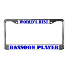 Bassoon Player License Plate Frame