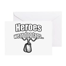 Heroes wear dog tags 2 Greeting Card