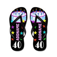 Snazzy 40Th Flip Flops