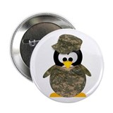 Army Penguin Button