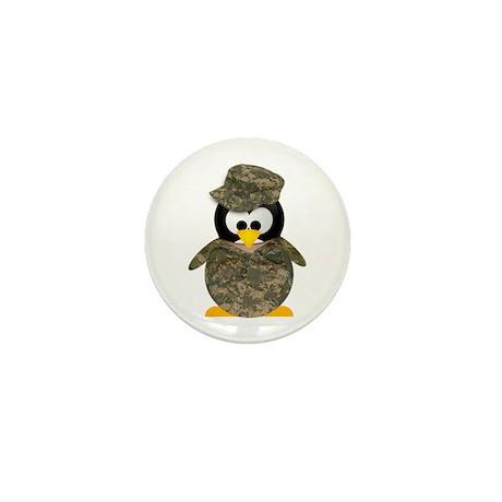 Army Penguin Mini Button