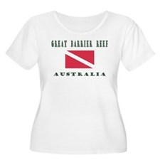 Great Barrier Reef Australia Plus Size T-Shirt