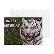 Happy Birthday Tiger Greeting Card
